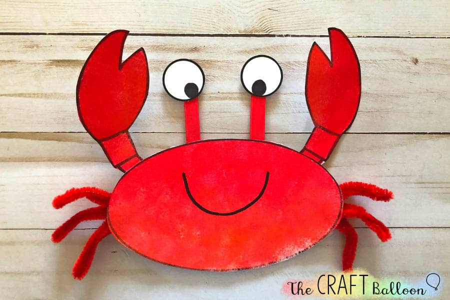 Crab craft for kids