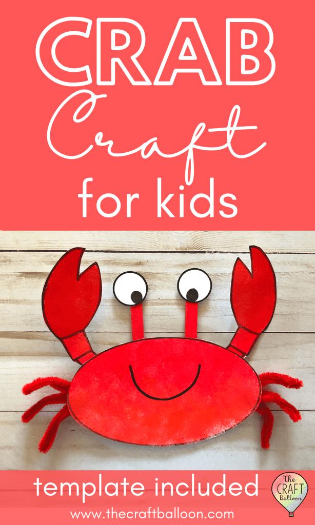 Crab craft for kids