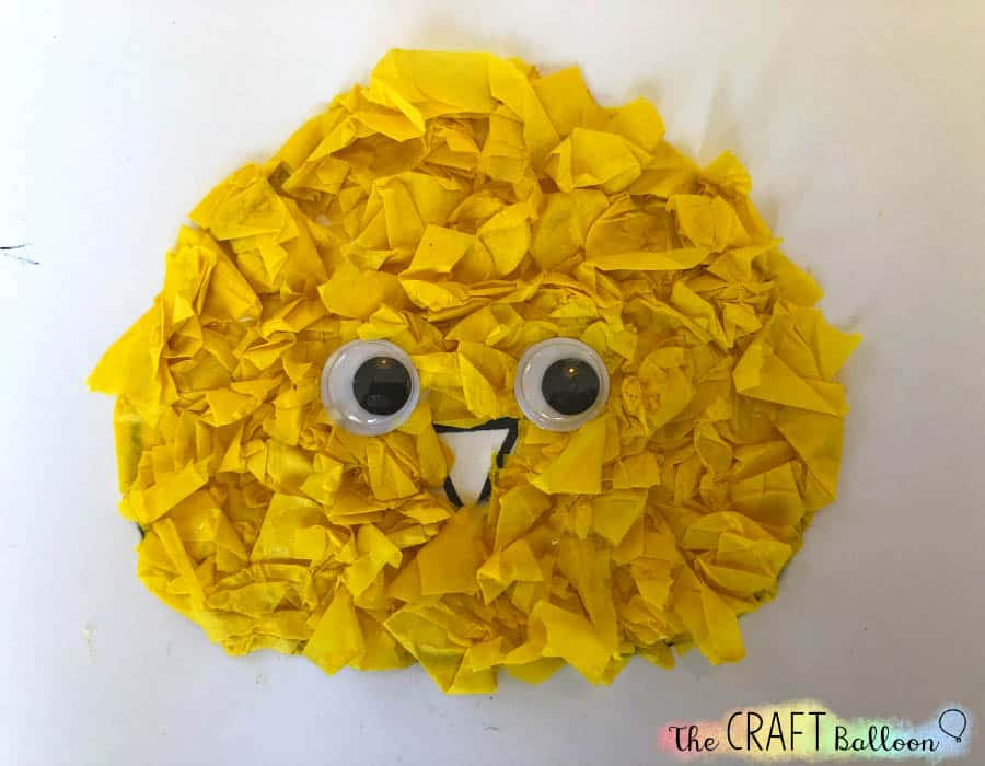 Chick craft with wiggly eyes.