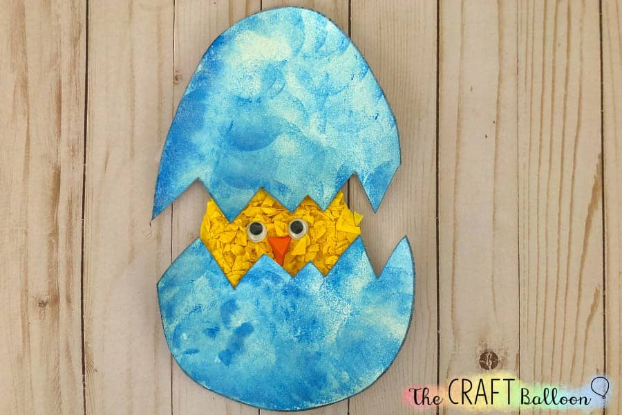 Egg and chick craft for kids