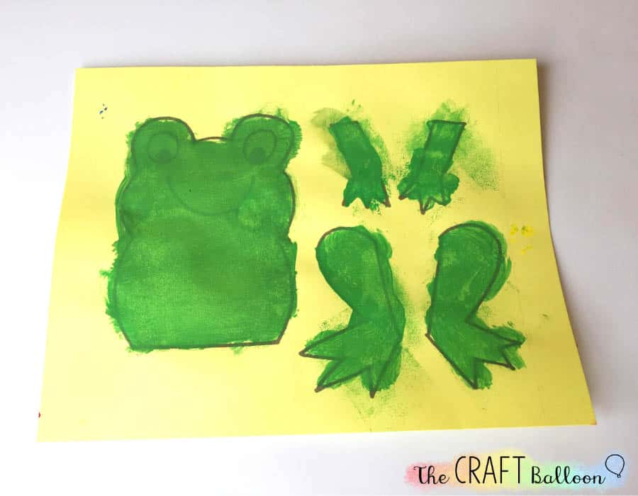 Painted frog craft template