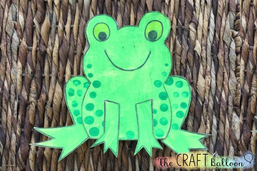 Fun frog craft for kids.