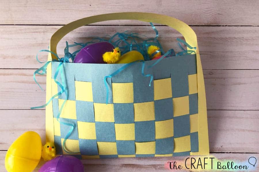Kids' paper Easter basket craft