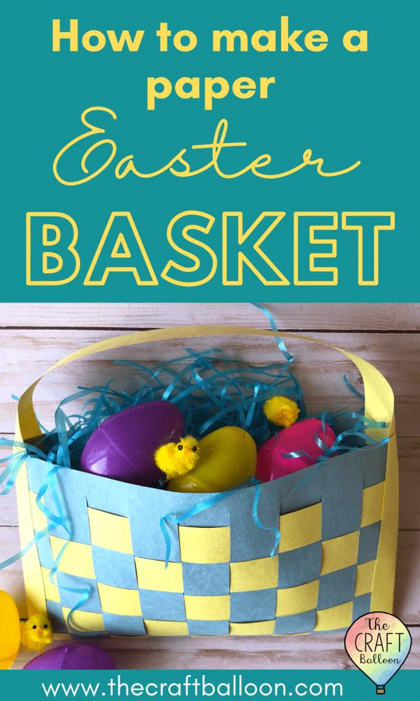 Paper Easte basket craft for kids