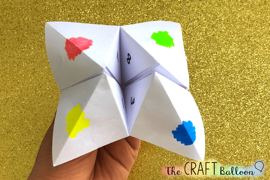Paper fortune teller.