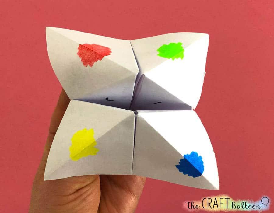 Finished paper fortune teller.