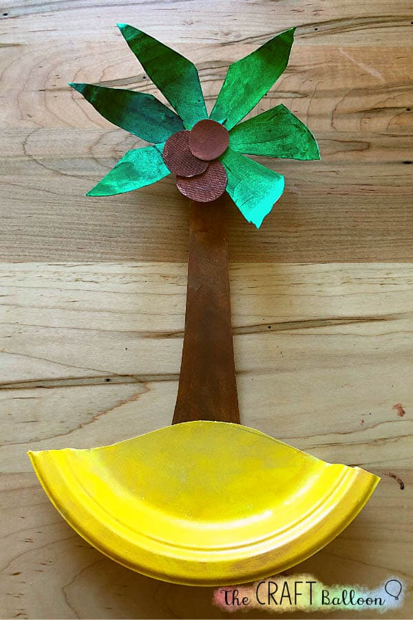 Completed coconut tree craft